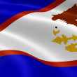 American Samoan flag in the wind — Foto de Stock   #9677790