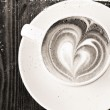 Textured stylized vintage cup of coffee — Stock Photo #11580036