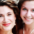 Portrait of mother with teenage daughter — Stockfoto