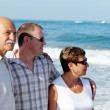 Royalty-Free Stock Photo: Son with his parents on the beach