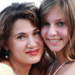 Mother with teenage daughter - Foto Stock