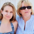 Mother and little daughter on vacation — Stock Photo