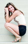 Young cute girl smilling — Stock Photo