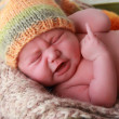 Stock Photo: Newborn baby cry