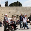 Tourists and Israelis near the Western Wall in Old City of Jerus - Lizenzfreies Foto