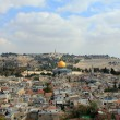 Old city of Jerusalem. Temple Mount: Dome on the Rock, Russian c — Stock Photo #16353031
