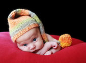 Baby in a hat — Stock Photo