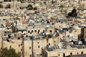 Background from the roofs of Old city of Jerusalem. West Bank. M — Stock Photo