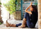Portrait of sad young girl — Stock Photo