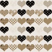 Vintage textured heart background — Stock Photo