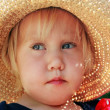 Cute little girl in the hat — Stock Photo