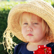 Stock Photo: Jealous cute kid outdoor
