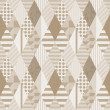 Seamless geometric sepia pattern on textured paper — Stock Photo