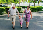 Happy Grandparents With Grandchild — Stock Photo