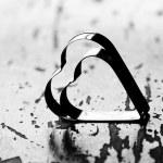 valentinky den pozadí se srdíčky — Stock fotografie