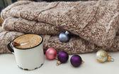 クリスマス コーヒー シナモン — ストック写真
