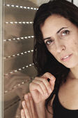 Portrait of beautiful sad 35 years old woman — Stockfoto