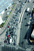 Street duting the day. Every day car traffic. — Stock Photo