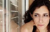 Portrait of beautiful sad 35 years old woman — Stock Photo