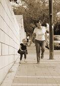 Happy Grandma With Granddaughter — Stock Photo