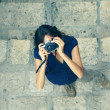 Woman with old camera — Stock Photo #38381869