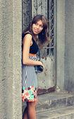 Mulher bonita ao ar livre — Foto Stock