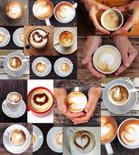 Kaffee collage — Stockfoto