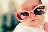 Portrait of fashion baby outdoors — Stock Photo