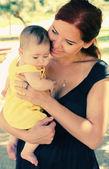Mère et son bébé — Photo