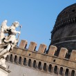 Angel statue in Castel Sant'Angelo — Stock Photo