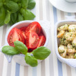 Serving with shrimp and herbs — Stock Photo #47431443