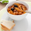 Thick soup with pasta and tomatoes — Stock Photo #47431525