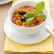 Thick soup with pasta and tomatoes — Stock Photo #47431529