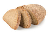 Rye bread isolated — Stock Photo