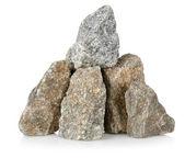 Heap gray stones — Stock Photo