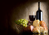 Wine and food — Stock Photo