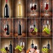 Wine collage — Stock Photo #14725347