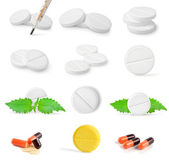 Collage of tablets — Stock Photo