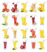 Collage of juices — Stock Photo