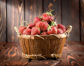 Strawberry on a table — Stock Photo