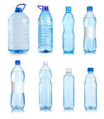 Collage of water bottles — Stock Photo