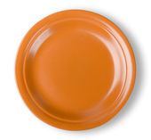 Brown plate — Stock Photo