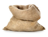Empty burlap sack — Stock Photo