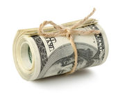 Dollar roll isolated — Stock Photo