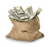 Dollar in the bag — Stock Photo