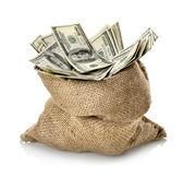 美元在袋子里 — 图库照片