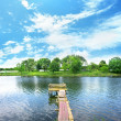 Wooden dock - Stock Photo
