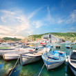 Boats in the bay of Balaclava — Stock Photo