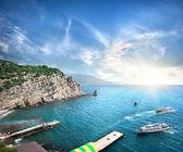 Yacht nel mare — Foto Stock