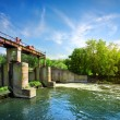 Dam on the river — Stock Photo
